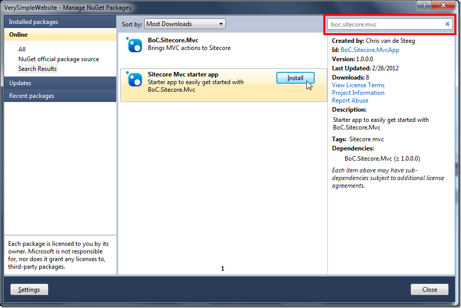 VerySimpleWebsite - Manage NuGet Packages_2012-02-28_18-36-28